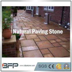 Naturelle Gris / rouge / jaune en pierre de granit de pavage de galets pour pavés de paysage de jardin