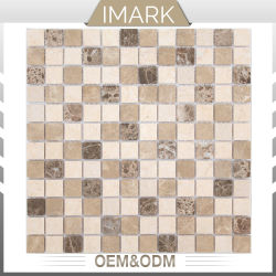 Sunny Beige Emperador Dark & Light mosaico de azulejos de pared de piedra natural