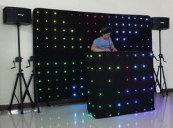 DJ LED Vision Curtain Size 2*3m/DJ Decoration Curtains