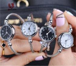 Orologio Analog del quarzo della manopola rotonda di Bracelets&Bangle del polsino dell'acciaio inossidabile per la ragazza #V405 delle donne