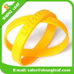 Дешевый персонализированный браслет кремния логоса печатание