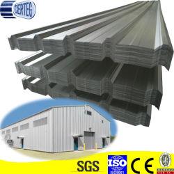 O Trapezoid galvanizado ou Galvalume folha metálica do telhado de aço