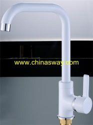 Lavabo blanc Faucet, biens mobiliers, en laiton de la tuyère (SW-09582-Q1)