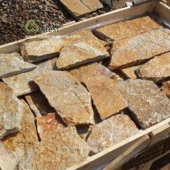 Het Vernisje van de Bekleding van de Steen van de Muur van het kalksteen voor Decor van de Muur van de Villa het Buiten en Binnenlandse