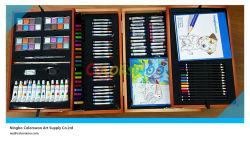 146PCS Drawing Art Set em Wooden Box para Kids e Students