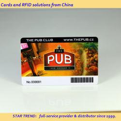 Cr80 CMYK Printing Barcode QR Code طبع على بطاقة PVC البلاستيكية لعضو النادي