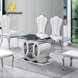 現代様式の食堂の家具の透過ガラスレストランの金属表