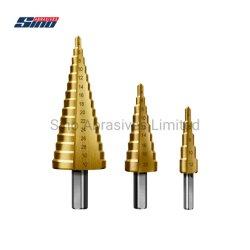 Punta per trapano a gradino HSS di classe industriale in acciaio al cobalto M35, M2 con 3, 6, 9 gradini per legno/acciaio inox/scheda in metallo