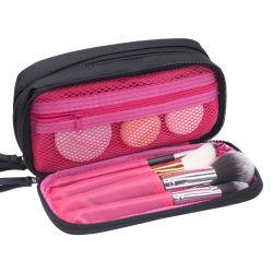 Saco Cosméticos impresso logotipo Lona de Algodão orgânico Plain Makeup Saco com fecho de correr em saco cosméticos