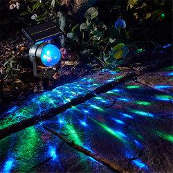 Projector Solar Luz muda de cor do Farol Rotativo relvado exterior festival de luz Decoration lâmpada de projeção para o Estaleiro, partido, o Natal