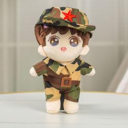 Хлопок кукла замена одежды мультфильма в военной форме, мягкие игрушки кукла 20см кукла детский одежды