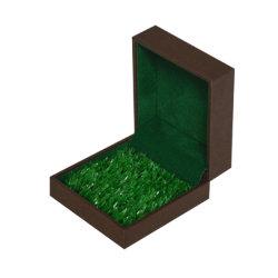 Novo Design Madeira topo de grama Papel Inserir caixa de jóias de embalagens para Ring Jóia Pendente
