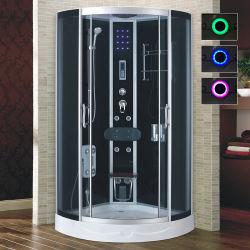 LED Bunte Licht Badezimmer Designs Luxus Dusche Kabinensektor Dusche Tablett mit Duschkopf