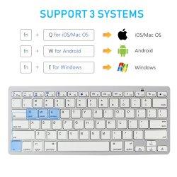 78keys Wholesale professionellen Ultra-Dünnen drahtlosen Tastatur Bluetooth 3.0 Tastaturen Teclado Laptop für Apple iPad IOS-System