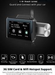 夜間撮影機能付きフロント・ダッシュボード・リア・カメラ・レコーダー、フル HD 1080p 3.0 LCD Wi-Fi ループ・レコーディング G センサー、ミニダッシュ・カメラ GPS トラック・リモート・モニター Esg12910