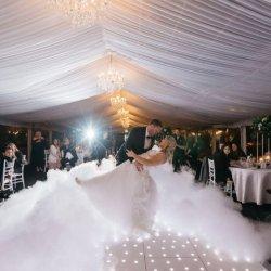 Pista de Baile de LED iluminado por las estrellas blancas de piso ILUMINACIÓN DE NAVIDAD DE DJ