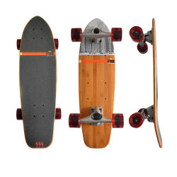 Speciaal Bamboo Electric Professional Double Rocker Fish Skateboard