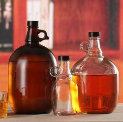 Comercio al por mayor Color Personalizado 1 galón botella galón de Vidrio Jarra enorme botella de almacenamiento
