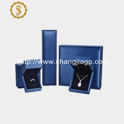 Commerce de gros logo personnalisé Gold Silver Blue de qualité de l'emballage boîte à bijoux Bracelet Bague Collier pendentif Bijoux Boîte d'emballage