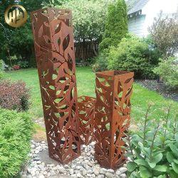 Jardín al aire libre acero Corten Modelo personalizado cubierta de la luz del paisaje de metal