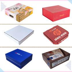 Оптовая торговля высококачественные бумажные продукты / Пицца / Торт / Куки / Доныт / фрукты / вино Подарочные Kraft Cardboard E Прошная упаковка для хранения флейта картонная коробка