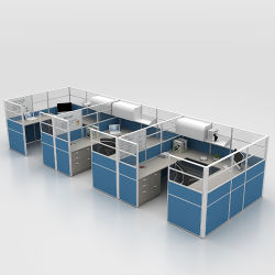 Forniture di ufficio rotonde della stazione di lavoro del divisorio moderno poco costoso della call center