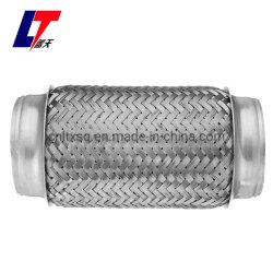 أنبوب أنبوب أنبوب العادم المرن من الفولاذ المقاوم للصدأ مزدوج Braid 3 بوصة × 6 بوصة مع أطراف Flexi