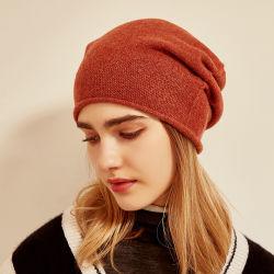Сплошным цветом обычная трикотажные 100% верхней категории качества женщин кашемира Red Hat