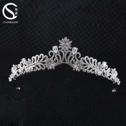 Hot vendre Fashion Rhinestone 925 Sterling Silver Wedding couronne Tiara