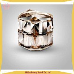 15g 30g 50g de creme de ângulo do vaso de diamante acrílico garrafa- Pacote de cosméticos vaso Creme Sextavada