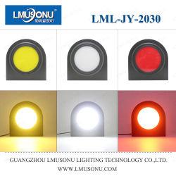 Lmusonu 새로운 JY-2030 12V 24V 5W 화이트 옐로우 레드 라운드 LED 회전 라이트 테일라이트 테일 램프 브레이크등 후진등 후진등 후진등 차량용 트럭 트랙터 하베스터용