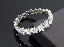 Alta calidad Pulsera de lujo apedreado Fantasía precio de fábrica de cristal joyas con diamantes de imitación de la calidad Super