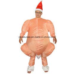 [ثنكسجفينغ] يوم تركيا دجاجة زيّ قابل للنفخ يمشي لباس