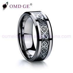 Usine chinoise de gros anneaux de mariage des hommes gothique Fancy bague tungstène