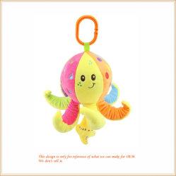 マルチカラープラシ天のタコの動物のおもちゃは柔らかいKeychainを詰めた