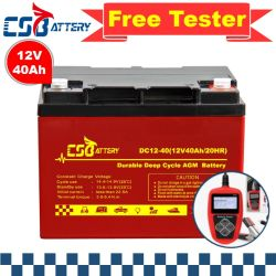 Csbattery 12V 40ah digiuna batteria del AGM della carica per energia elettrica/Emergenza-Sistemi/Booster-Pumps/AAA