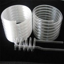 Abitudine per fornitore del tubo di spirale di vetro di silicone della radura dell'illustrazione