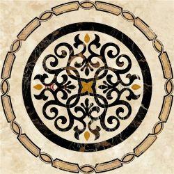 Medaglione Waterjet naturale rotondo del marmo di disegno del pavimento