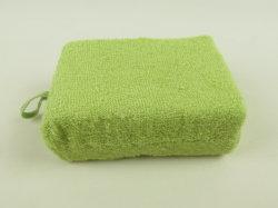 Spugna esfoliante per pulizia per bagno quadrato di canapa