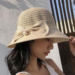 2019 Mesdames Sun Chapeaux pour les femmes, les chapeaux de paille, godet chapeaux, bouchon de godet