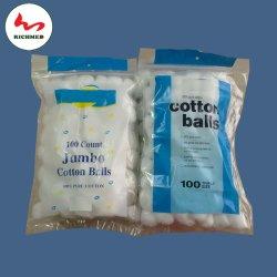 Las bolas de algodón para uso médico, el 100% algodón blanqueado Material con Ce y ISO13485