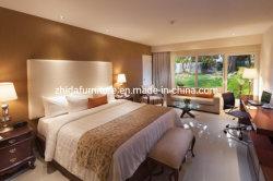 旧式なSize Bed Hotel Bedroom中国様式の材木王の家具