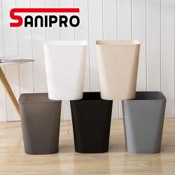 OEM Sanipro Home Office lavabo Bastket Lixeira quadrada de plástico do compartimento de pó de contentor de lixo do recipiente de Reciclagem de Lixo