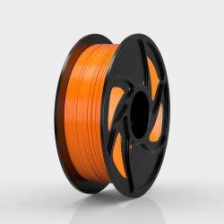 Una muestra gratis 100% sin burbujas Noctilucent naranja 1,75mm 3mm PLA filamento de Material de la impresora 3D.