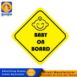 Custom Baby Sign Magnet Magnetic Car Sticker aan boord Waterproof Reflecterende sticker op de bumper voor het raam van de auto