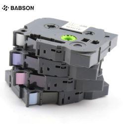Cartucho de cinta impresora Brother Cartucho de tóner de color pálido de cinta de etiqueta estándar mate laminado multicolor de suministros de oficina&Adhesivo estándar