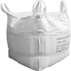 トウモロコシ、穀物、小麦粉、米、肥料、供給、砂、砂糖のための白いトン袋PPによって編まれる大きいジャンボバルク袋