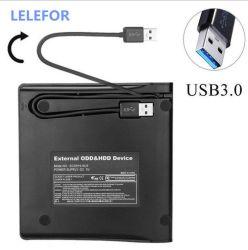 محرك أقراص USB3.0 CD ومحرك أقراص DVD خارجي مدمج الكمبيوتر الدفتري Desktop All-in-One