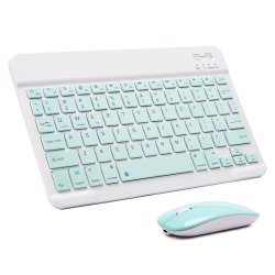 Mini portátil compacto Ratón y teclado inalámbrico Bluetooth para Tablet Laptop iPad Smartphone Ios Android teléfono Russian Spanish