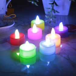 Boda Producto sin Flama accionado por batería LED Luces de velas de té Precio